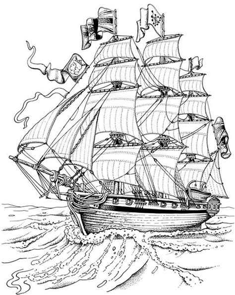 coloring book for relaxation sailing ships books rigged pictures pics images and photos for inspiration
