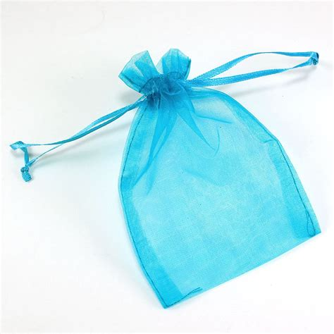 maple craft sheer organza bags with drawstrings 4 quot x 5