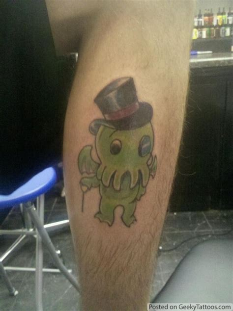 monopoly man tattoo go directly to cthulhu do not pass go geeky tattoos