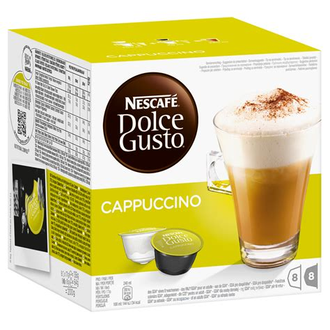 Dolce Gusto Cappuccino By Ancha nescaf 233 dolce gusto cappuccino 16 capsules 8 servings