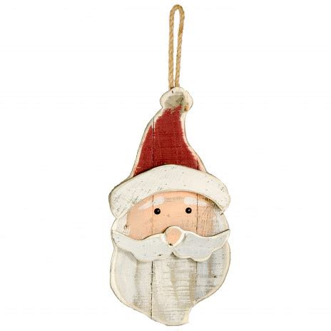 17 quot distressed wooden santa hanging decoration wdg15607