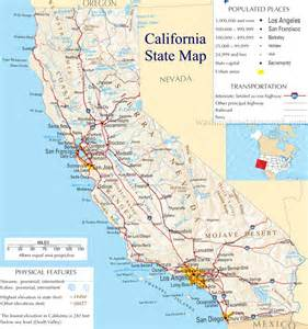 map of of california california state map images