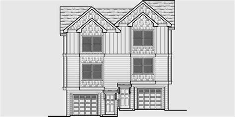 3 story narrow house plans duplex house plans narrow lot duplex house plans d 544