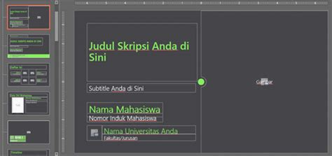 page layout untuk skripsi template presentasi skripsi presentasi net