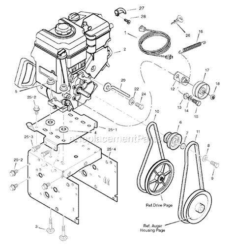 murray snowblower parts diagram murray 1695555 parts list and diagram c950 52843 0