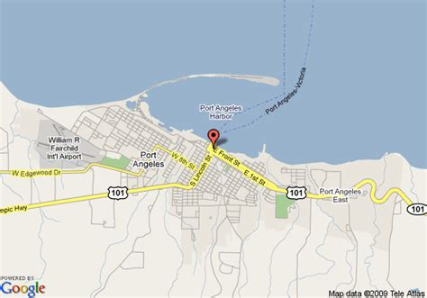 port angeles map map of hotel port angeles port angeles