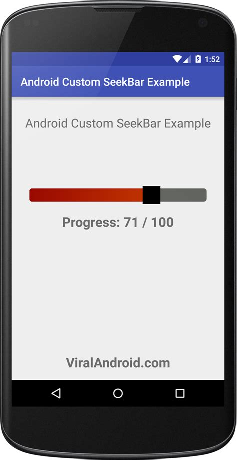 customize android android custom seekbar exle viral android tutorials exles ux ui design