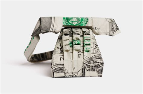 Origami Phone - 12 impressive dollar bill origami creations photos