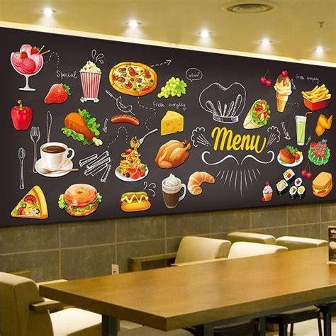 personalized blackboard graffiti food mural wallpaper cake