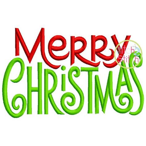 merry christmas embroidery design  machine embroidery