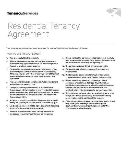 residential tenancy agreement template residential tenancy agreement template 28 images 28
