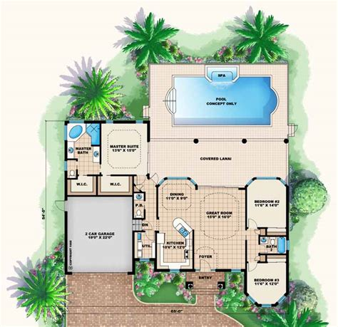 Single Story Open Concept Floor Plans by Floor Plans Examples Focus Homes
