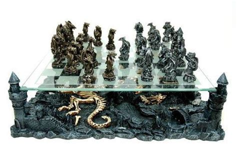 dragon chess set large dragon chess board game set pewter metal goth gothic