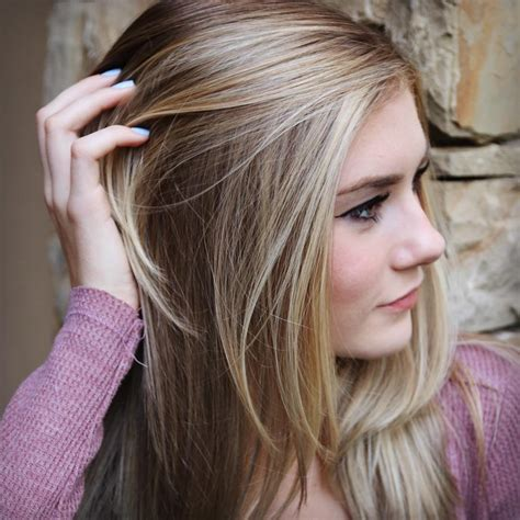 images grey and blond hair blend highlights and lowlights to grow out gray dark brown hairs