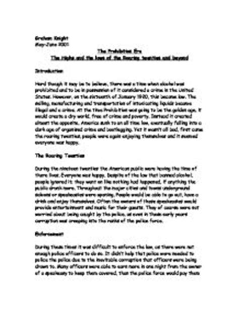 Prohibition History Essay by The Prohibition Era The Highs And The Lows Of The Roaring Twenties And Beyond Gcse History