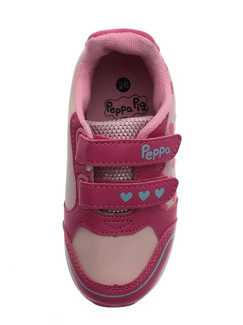 Flat Shoes Fg 3668 205 peppa pig pink glitter trainers adjustable straps flat sports shoes ebay