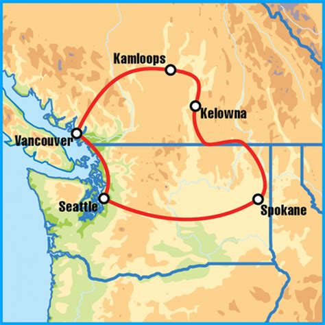 seattle to kelowna map seattle canada self drive motorcycle tour hadrian