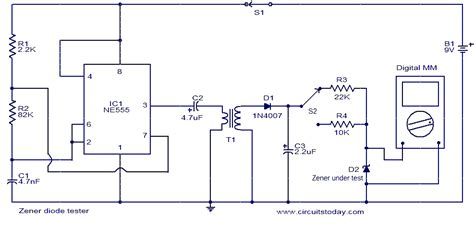 circuit diode zener zener diode tester electronic circuits and diagrams electronic projects and design