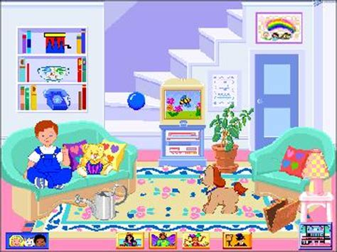 90 s dollhouse computer fisher price doll house pc cd pretend play house