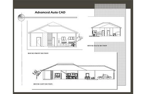 autocad section view layout 2008 portfolio