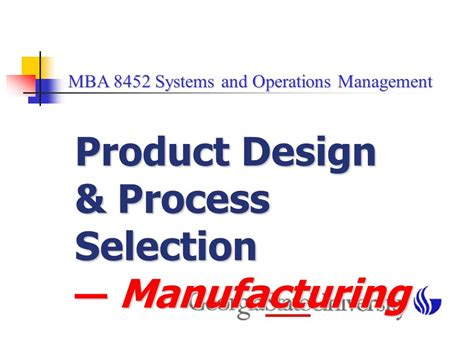 Mba Design Management by Product Design Process Selection Ppt