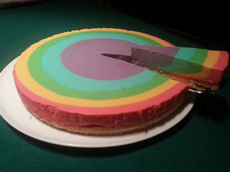 Rainbow Cake Cheese Rainbow Cheesecake Recipe Dishmaps