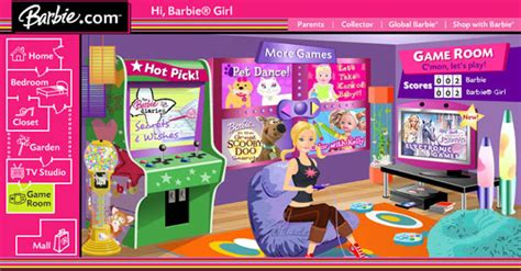 barbie bedroom game barbie com by agnes chan at coroflot com