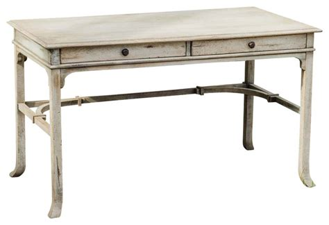 Coastal Cottage Style Writing Desk Uttermost Bridgely 2 Drawer Aged 52 Quot X27 Quot Writing Desk Style Desks And Hutches By