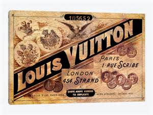 Vintage louis vuitton advertisement by 5by5collective 1 piece canvas