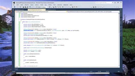 keyboard hook tutorial low level windows keyboard hook in c net youtube