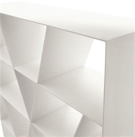 open sided corian 174 bookcase shelf x by b b italia