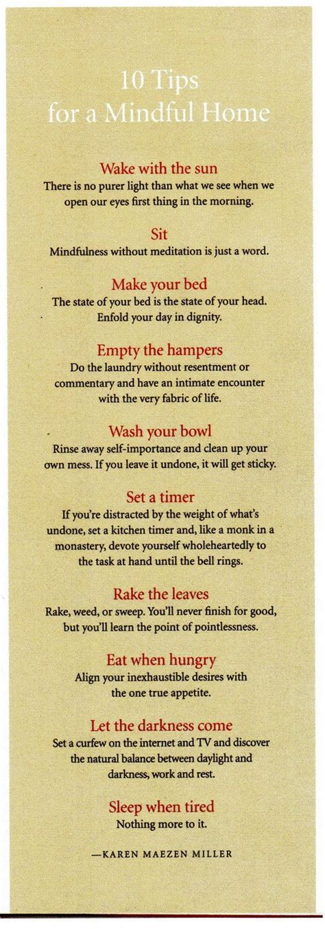 printable mindfulness quotes 10 tips for a mindful home the tao of dana
