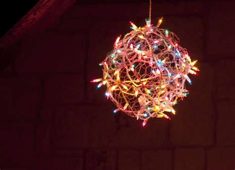 diy christmas light ball diy christmas decorations 10