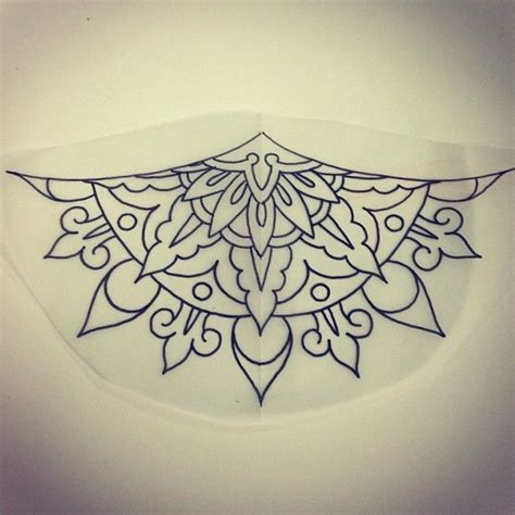 mandala underbust tattoo another mandala sternum underboob design up for grabs