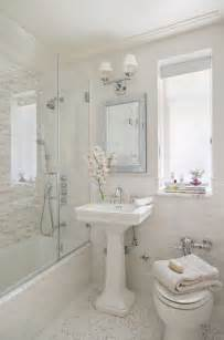 sweet bathrooms with pedestal sinks messagenote good idea for too small separate shower and tub
