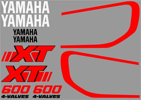 Yamaha Xt 600 Aufkleber Vordruck by High Quality Yamaha Decal Sets Xt600 Series
