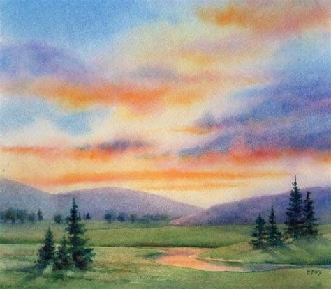 Easy Landscape Pictures To Paint Best 25 Watercolor Landscape Ideas On