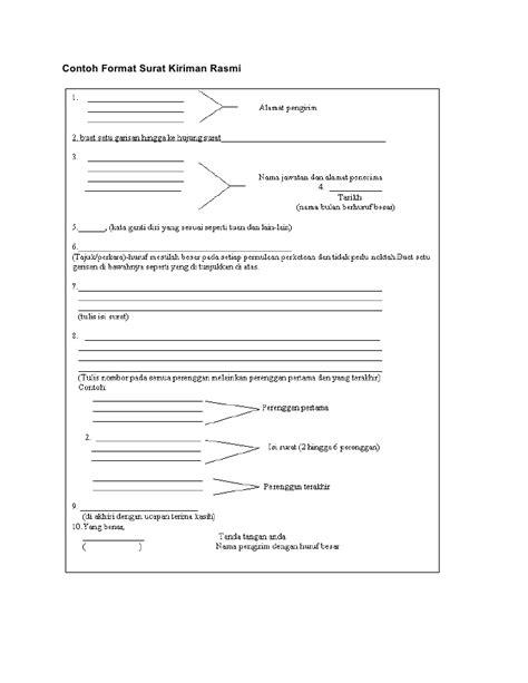 nota format surat kiriman rasmi