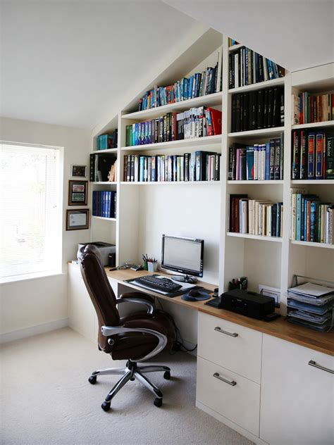 white bespoke fitted home office bespoke furniture