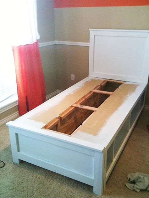 do it on my twin bed diy twin bed with storage you could do it with any size