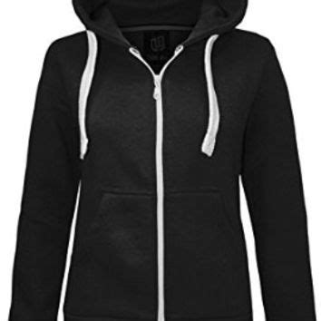 Jaket Zipper Hoodie Sweater Hardwell Navy new womens plain hoodie hooded zip from fashion