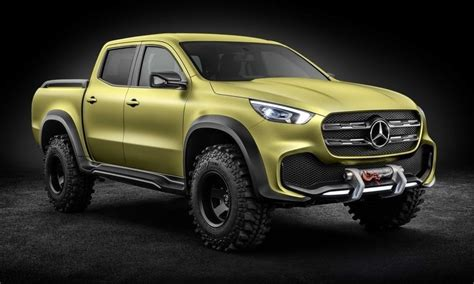 mercedes previews x class truck with two concepts