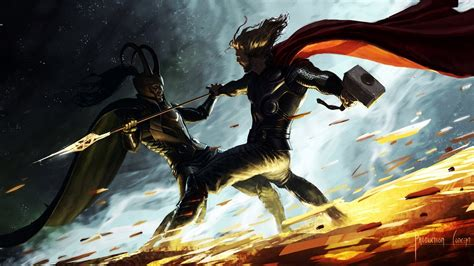 thor movie wallpaper thor vs loki c25 wallpapers