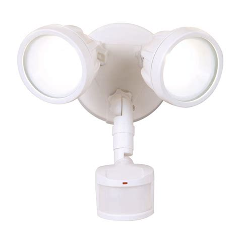 All Pro 180 Degree White Motion Activated Sensor Twin Head Outdoor Motion Sensor Security Lights