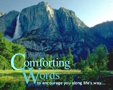 comforting things comforting words