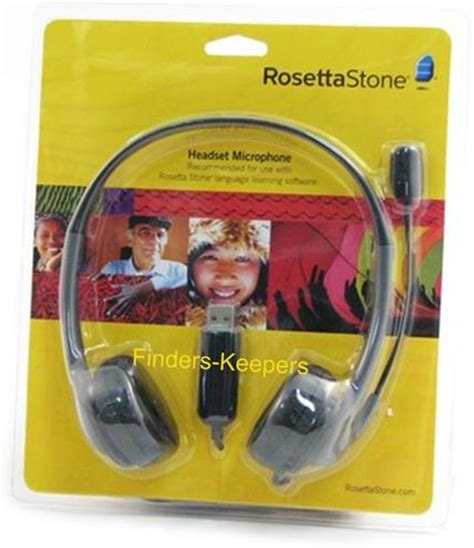 rosetta stone headset new rosetta stone usb microphone headset ships fast
