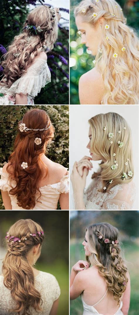 Wedding Hairstyles Half Up With Flowers by 100 Wedding Hairstyles 2018 Curls Half