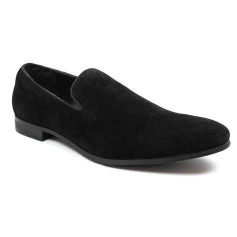 black slip on loafers black suede slip on loafer azar suits
