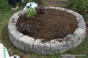 What To Put In A Raised Garden Bed For Soil - building a fall garden bed from stone retaining wall blocks growing the home garden