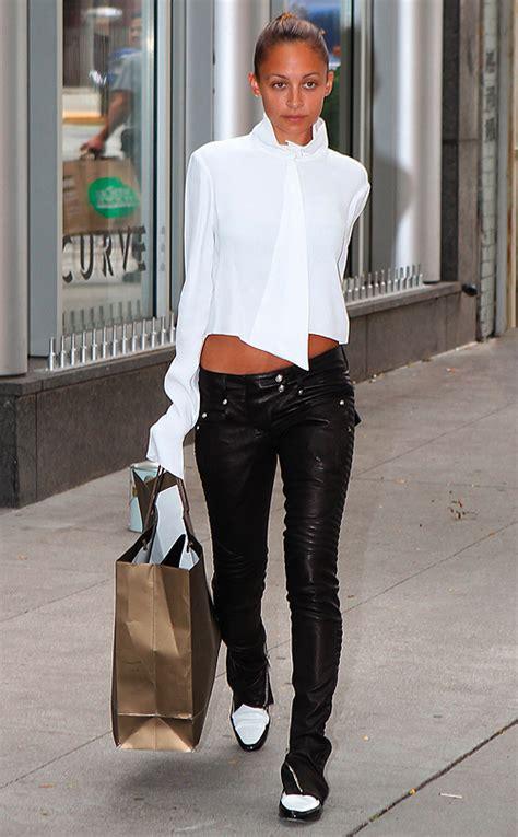 nicole richie wearing jeans celebrity street style nicole richie switches up boho